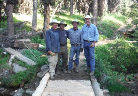 Volunteers on the Pasayten Wilderness